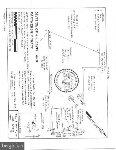 Rockingham County Residential Lots & Land For Sale: 636 Runkles Gap Road