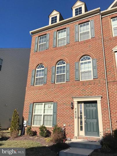 Brandywine Townhouse For Sale: 7408 Redleaf Row Road