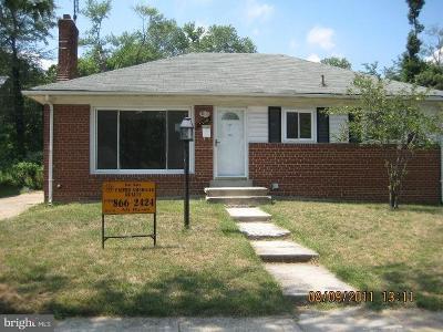 District Heights Rental For Rent: 7110 Kipling Parkway