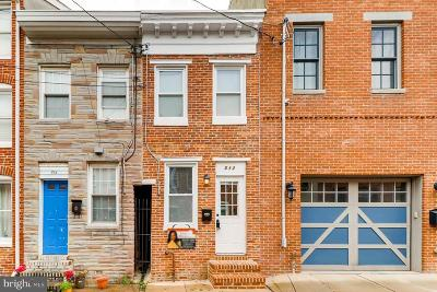 Fells Point Townhouse For Sale: 512 Chapel Street