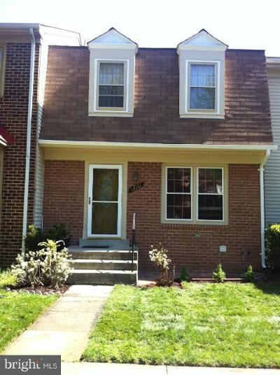 Silver Spring Townhouse For Sale: 13033 Brahms Terrace