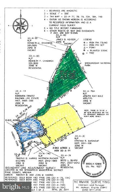 Page County Residential Lots & Land For Sale: Kimball Rd
