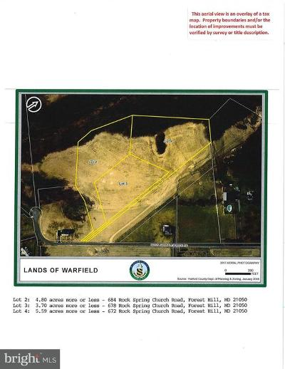 Harford County, Howard County Residential Lots & Land For Sale: 672 Rock Spring Church Road