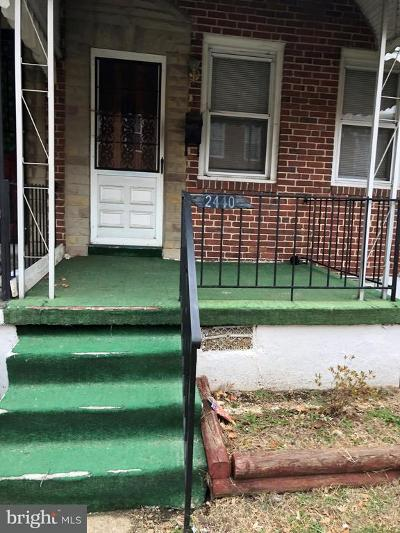 Baltimore City Rental For Rent: 2440 Christian Street