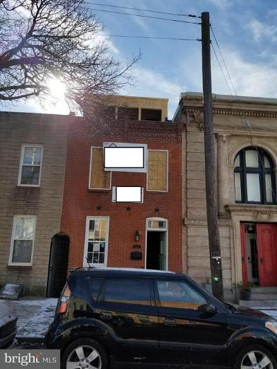 Baltimore Townhouse For Sale: 3205 Elliott Street