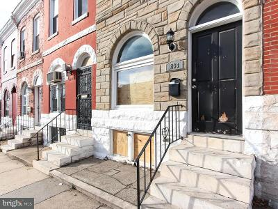 Baltimore City Rental For Rent: 1838 Rutland Avenue