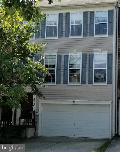 Gaithersburg Townhouse For Sale: 212 Sapling Hill Way