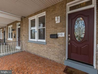 Petworth Townhouse For Sale: 210 Varnum Street NW