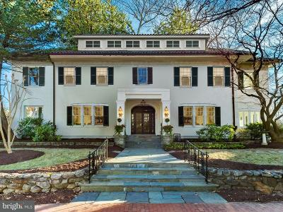 Cleveland Park Single Family Home Active Under Contract: 3512 Lowell Street NW
