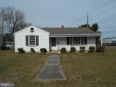 Cambridge MD Single Family Home For Sale: $126,900