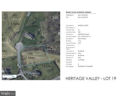 Carlisle Residential Lots & Land For Sale: Heritage Valley - Beverly Court #LOT 19