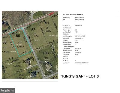 Carlisle Residential Lots & Land For Sale: 'king's Gap' - Pine Road #LOT 3
