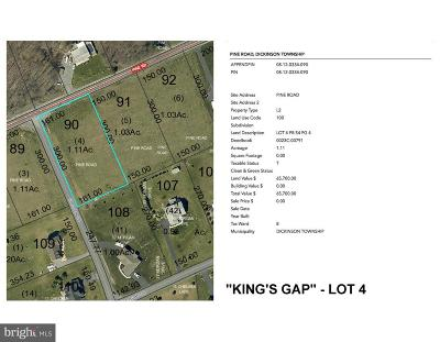 Carlisle Residential Lots & Land For Sale: 'king's Gap' - Pine Road #LOT 4