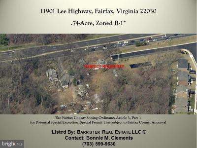 Fairfax Residential Lots & Land For Sale: 11901 Lee Highway