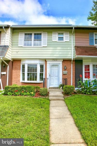 Gaithersburg Townhouse For Sale: 17610 Larchmont Terrace