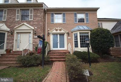 Rockville Townhouse For Sale: 10831 Brewer House Road