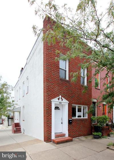 Baltimore City Townhouse For Sale: 254 Clinton Street S