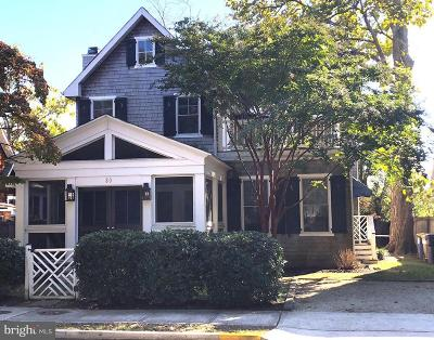 Rehoboth Beach Single Family Home For Sale: 80 Sussex Street
