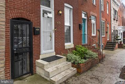 Fells Poi Nt, Fells Point, Fells Point/Hopkins, Fells Pt./Hopkins Townhouse For Sale: 619 Patterson Park Avenue S