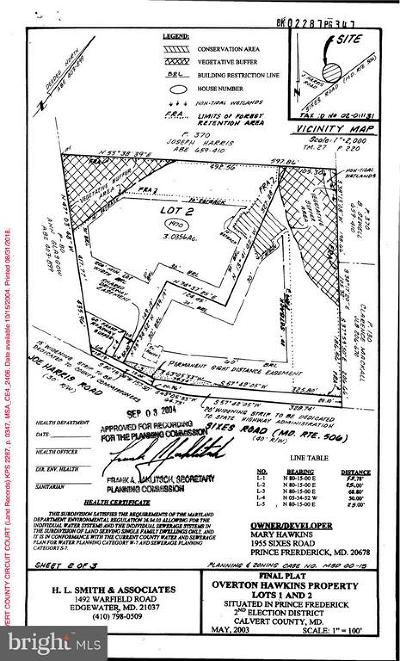Prince Frederick Residential Lots & Land For Sale: 1970 Sixes Road