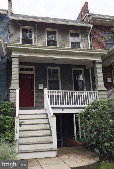 Single Family Home For Sale: 4118 Ellicott Street NW