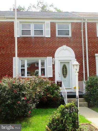 Baltimore County Townhouse Under Contract: 2245 Ellen Avenue