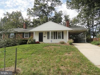 Beltsville Single Family Home For Sale: 13036 Ingleside Drive