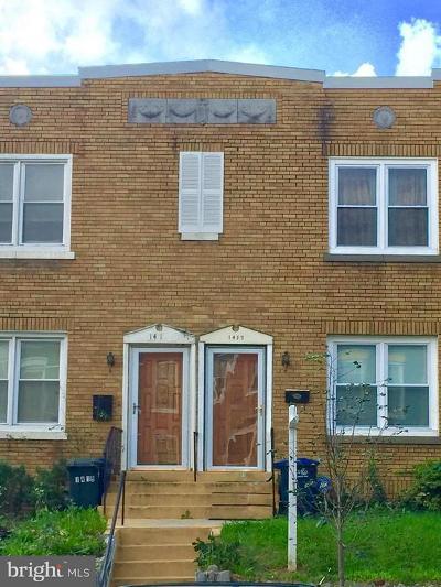 Washington County Townhouse For Sale: 1417 D Street NE