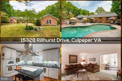 Culpeper Single Family Home For Sale: 15328 Rillhurst Drive