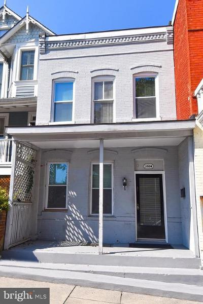 Columbia Heights, Columbia Heights/U St Townhouse For Sale: 3508 Center Street NW