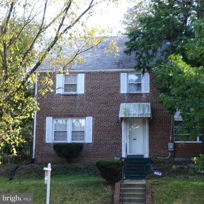 Single Family Home For Sale: 6013 New Hampshire Avenue NE