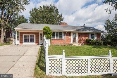Takoma Park MD Single Family Home For Sale: $550,000