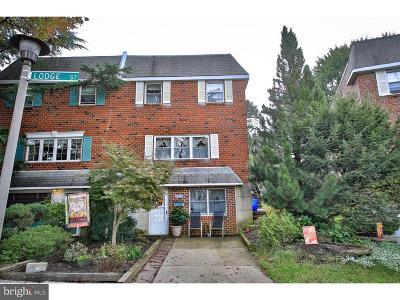 Roxborough Single Family Home For Sale: 325 Lodge Road