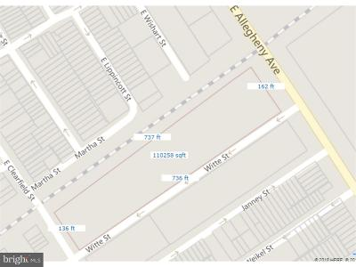 Philadelphia Residential Lots & Land For Sale: 3100-98 Witte Street
