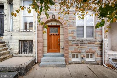 Baltimore Townhouse For Sale: 2269 Madison Avenue