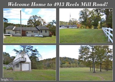 Frederick Single Family Home For Sale: 4913 Reels Mill Road