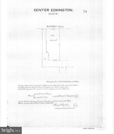 Eckington Residential Lots & Land For Sale: 315 W Street NE