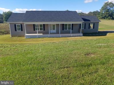 Culpeper Single Family Home For Sale: 15314 Pulliam Lane Road NW