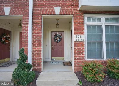 Washington County, Montgomery County, Fairfax County Rental For Rent: 4587 Whittemore Place #1222