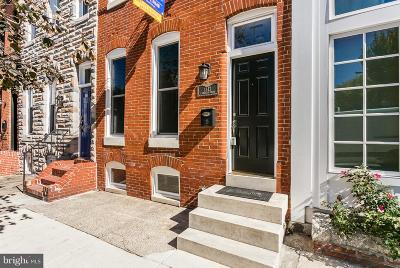 Federal Hill Townhouse For Sale: 1343 S Charles Street