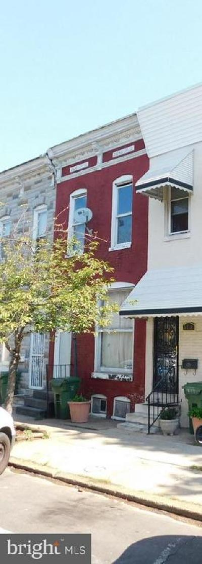 Baltimore Townhouse For Sale: 621 N Montford Avenue