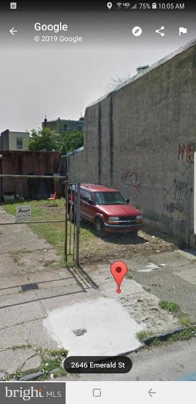 Fishtown Residential Lots & Land For Sale: 2647 Emerald Street
