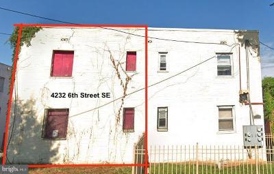 Washington Single Family Home For Sale: 4232 6th Street SE