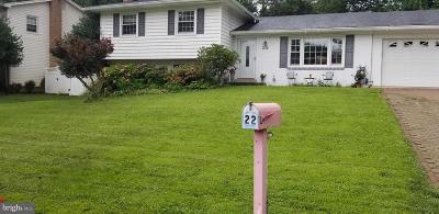 Gaithersburg Single Family Home For Sale: 22 Keystone Drive