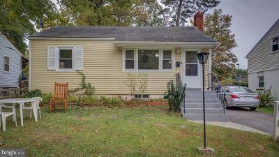 Lanham, Lanham Seabrook Single Family Home Under Contract: 9321 Washington Boulevard