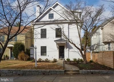 Washington Single Family Home For Sale: 4481 Q Street NW
