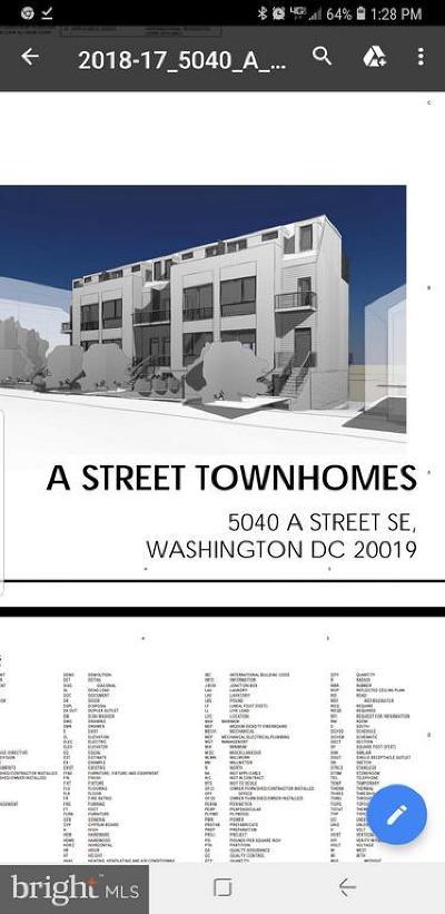 Washington Single Family Home For Sale: 5040 A Street SE