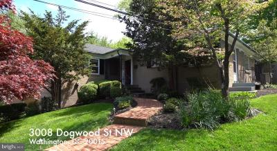 Washington Single Family Home For Sale: 3008 Dogwood Street NW