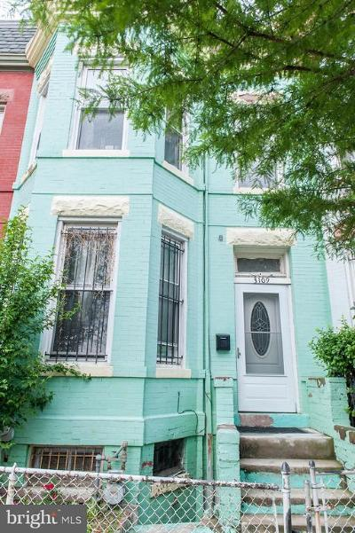 Columbia Heights, Columbia Heights/U St Townhouse For Sale: 3109 11th Street NW