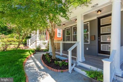 Townhouse For Sale: 1409 Foxhall Road NW
